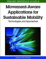 Movement-Aware Applications for Sustainable Mobility: Technologies and Approaches