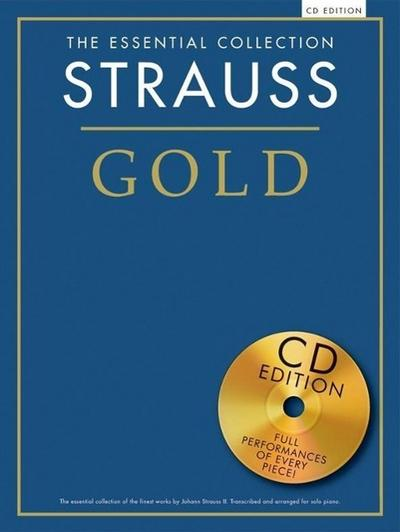 STRAUSS GOLD ESSENTIAL COLLECTION PIANO BOOK/CD