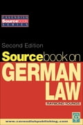 Sourcebook on German Law - Youngs, Raymond