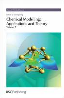 Chemical Modelling: Applications and Theory, Volume 7