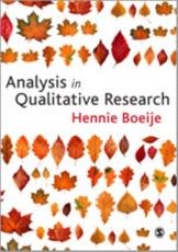 Analysis in Qualitative Research - Hennie R Boeije