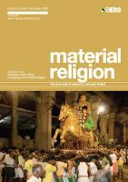 Material Religion Volume 5 Issue 3: The Journal of Objects, Art and Belief