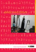Design and Culture Volume 1 Issue 3: The Journal of the Design Studies Forum