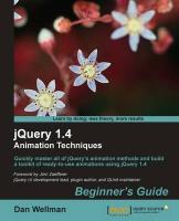 Jquery 1.4 Animation Techniques: Beginners Guide