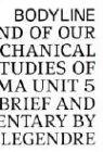 Princeton Arch: Bodyline: End of the Meta-Mechanical