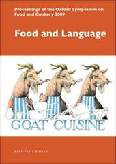 Food and Language: Proceedings of the Oxford Symposium on Food and Cookery 2009 - Hosking, Richard