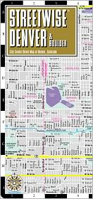 Streetwise Denver Map - Laminated City Center Street Map of Denver, Colorado - Folding Pocket Size Travel Map With Metro (2013) - Streetwise Maps