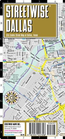Streetwise Dallas Map - Laminated City Center Street Map of Dallas, Texas - Folding Pocket Size Travel Map (2013) - Streetwise Maps Inc.
