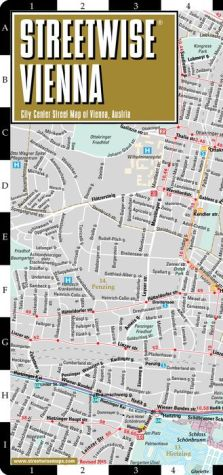 Streetwise Vienna Map - Laminated City Center Street Map of Vienna, Austria - Folding Pocket Size Travel Map With Metro (2015) - Streetwise Maps
