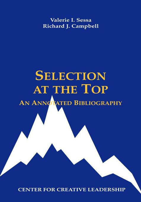 Selection at the Top als eBook von Valerie I. Sessa, Richard J. Campbell - Center for Creative Leadership