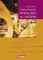 Technical English at Work - Second Edition: Technical English at Work. Schülerbuch. Neue Ausgabe