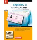 English G 21. Band 4: 8. Schuljahr. Vokabelkarteien interaktiv - zu allen Ausgaben. Windows 7; Vista; XP; 2000