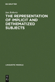 The Representation of Implicit and Dethematized Subjects - Ian Roberts