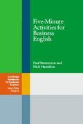 Emmerson, Paul;Hamilton, Nick: Fife-Minute Activities for Business Englisch