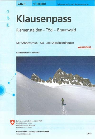Klausenpass ski - Office Federal De Topographie    Suisse