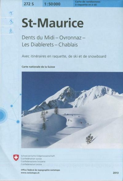 St Maurice ski - Office Federal De Topographie    Suisse