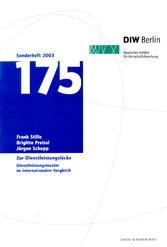 Zur Dienstleistungslücke. - Dienstleistungsmuster im internationalen Vergleich. - Frank Stille, Brigitte Preissl, Jürgen Schupp