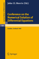 Conference on the Numerical Solution of Differential Equations - J. L. Morris