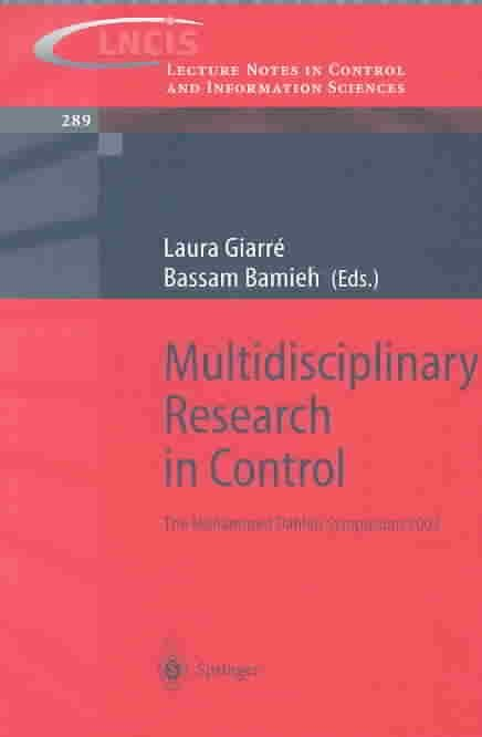 Multidisciplinary Research in Control - Laura Giarre