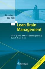 Lean Brain Management - Gunter Dueck
