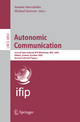Autonomic Communication - Ioannis Stavrakakis; Michael Smirnov