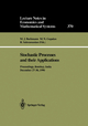 Stochastic Processes and their Applications - M.J. Beckmann; M.N. Gopalan; R. Subramanian