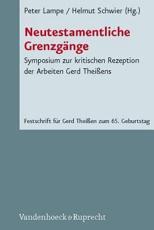 Neutestamentliche Grenzgange - Peter Lampe (editor)