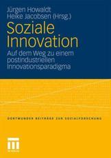 Soziale Innovation - Jürgen Howaldt (editor), Heike Jacobsen (editor)