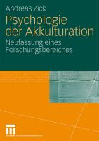 Psychologie der Akkulturation