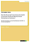 Has the Financial Crisis Induced a Credit Crunch for Small and Medium-Sized Enterprises in Germany? - Christopher Heine
