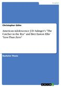 Göhn, Christopher: American Adolescence: J.D. Salinger´s The Catcher in the Rye and Bret Easton Ellis´ Less Than Zero