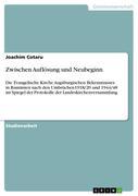 Cotaru, Joachim: Zwischen Auflösung und Neubeginn
