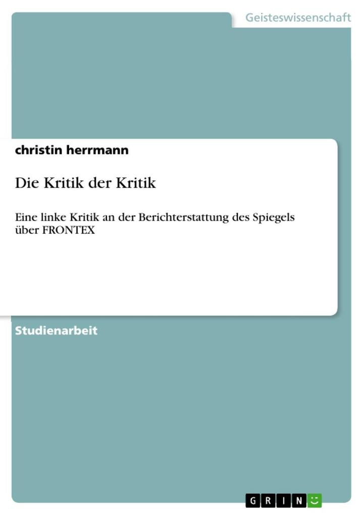 Die Kritik der Kritik als eBook Download von christin herrmann - christin herrmann
