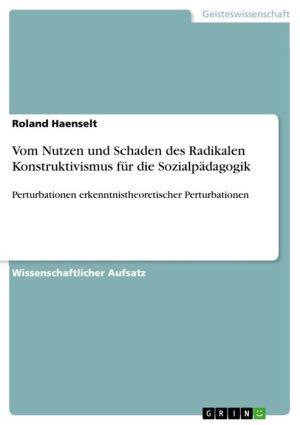 Vom Nutzen und Schaden des Radikalen Konstruktivismus für die Sozialpädagogik: Perturbationen erkenntnistheoretischer Perturbationen