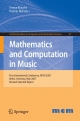 Mathematics and Computation in Music - Timour Klouche;  Thomas Noll
