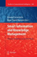 Smart Information and Knowledge Management