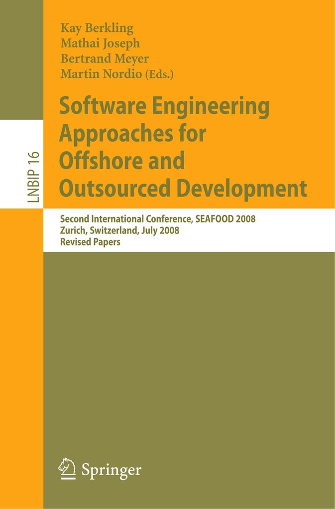 Software Engineering Approaches for Offshore and Outsourced Development als Buch von