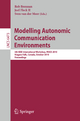 Modelling Autonomic Communication Environments - Rob Brennan; Joel Fleck II; Sven van der Meer