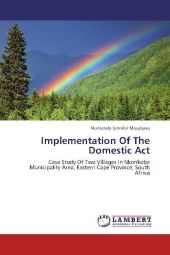 Implementation Of The Domestic Act - Nontando Jennifer Mesatywa