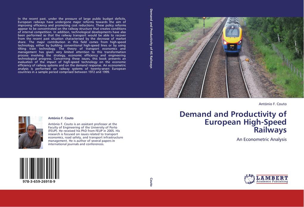 Demand and Productivity of European High-Speed Railways als Buch von António F. Couto - LAP Lambert Academic Publishing