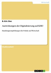 Auswirkungen der Digitalisierung auf KMU - Handlungsempfehlungen für Politik und Wirtschaft - B.-Eric Stec