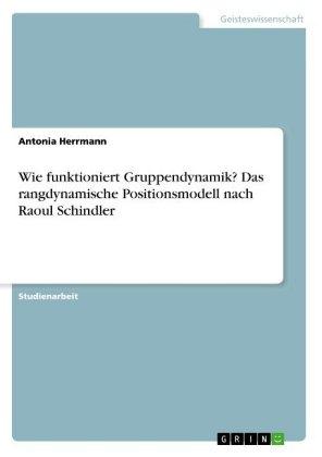 Akademische Schriftenreihe: Wie funktioniert Gruppendynamik? Das rangdynamische Positionsmodell nach Raoul Schindler - Herrmann, Antonia
