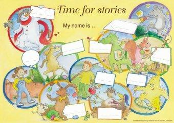Time for stories. Pfiffige Bild-Text-Hefte für Klasse 3 bis 6 / Time for stories - Das Poster zu den Kurzgeschichten - Bettina Erdmann