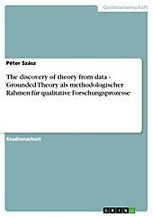 The discovery of theory from data - Grounded Theory als methodologischer Rahmen für qualitative Forschungsprozesse - eBook - Péter Szász,