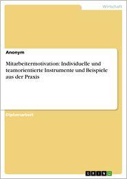 Mitarbeitermotivation: Individuelle und teamorientierte Instrumente und Beispiele aus der Praxis - Anonym