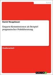 Enquete-Kommissionen als Beispiel pragmatischer Politikberatung