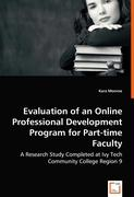 Evaluation of an Online Professional Development Program for Part-time Faculty