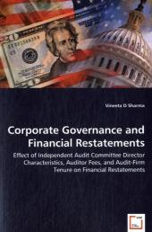 Corporate Governance and Financial Restatements - Vineeta D. Sharma