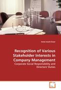 Recognition of Various Stakeholder Interests in Company Management