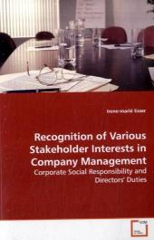 Recognition of Various Stakeholder Interests in  Company Management - Irene-marié Esser